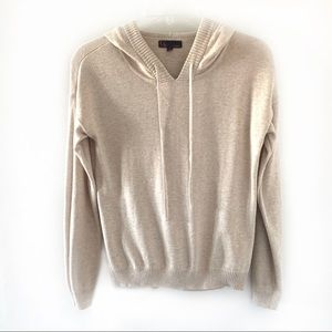 t/o Sweaters Tan Long Sleeve Hooded Sweater Size M